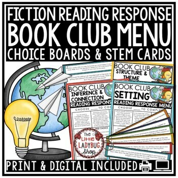 Book Club-  Higher Order Thinking Questions & Reading Response Activities