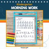 Kindergarten Morning Work or Homework, Spiral Review