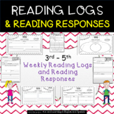 Reading Logs and Reading Response Sheets - Grades 3-5 - Good as Reading Homework