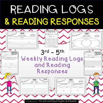Reading Logs and Reading Response Sheets - Grades 3-5 - Go