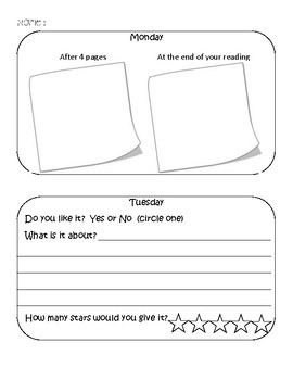 Reading Homework Attachment Sheet