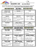 Reading Homework / DEAR / IDR Log- Advanced Elementary Readers