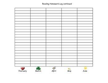 Reading Homework Graph