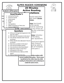 Reading Homework Guide for Parents