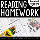 Reading Homework (Leveled Readers with Parent Support)