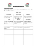 Reading Homework Poetry and Figurative Language