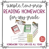 Reading Homework Resource – Easy, Year-Round Routine for A
