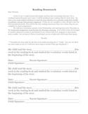 Reading Homework Slips with Parent Letter K-6
