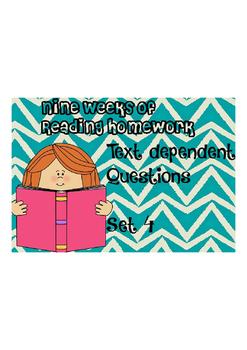 Reading Homework Unit