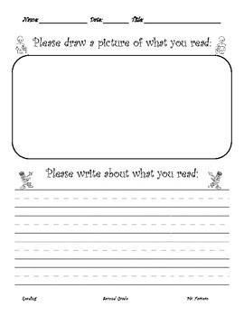 Reading Homework Writing & Drawing