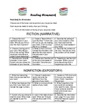 Reading Homework fiction and nonfiction narrative and expository