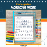 Kindergarten Morning Work or Homework, Spiral Review