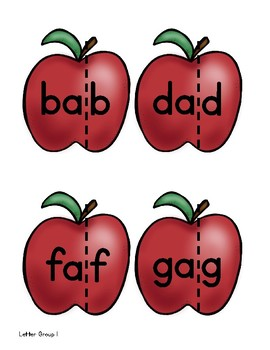 Reading Horizons - Building Words with Slides Apples Freebie