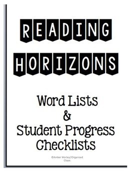 Reading Horizons Most Common Word Lists/Running Records/Student Tracker BUNDLE