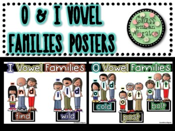 Reading Horizons O and I Vowel Families Posters