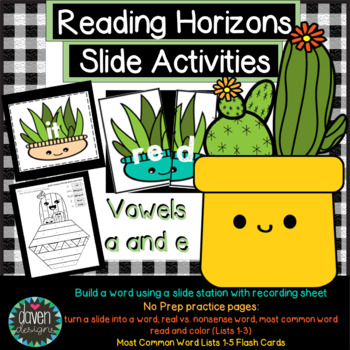 Reading Horizons- Real vs. Nonsense Words, Slides, Build a Word, MCW lists 1-5