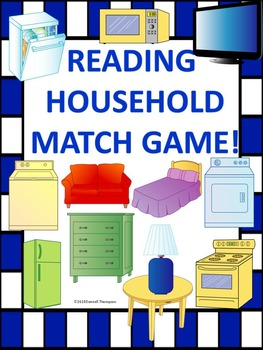"Reading ""Household Items"" (Matching Card Game)"