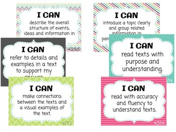GRADE 4 Reading I CAN Statements