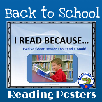 Reading - I Read Because Posters: 12 Great Reasons to Read