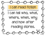 """Reading """"I can"""" Common Core Statements 2nd Grade"""