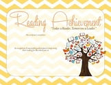 Reading Improvement Certificate