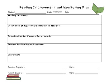 Reading Improvement & Monitoring Plan (for Ohio's Third Grade Reading Guarantee)