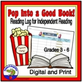 Reading - Pop into a Good Book Reading Log for Independent Reading
