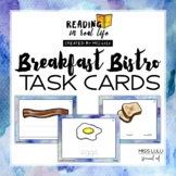 Functional Reading Task Cards: Breakfast Words [Reading in