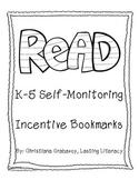 Reading Incentive Bookmark