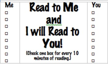 Reading Incentive Cards for Home Reading