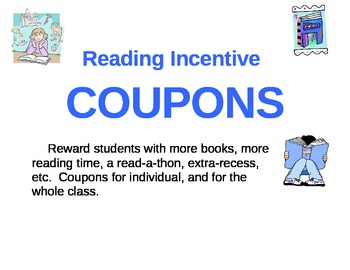 Read a thon teaching resources teachers pay teachers reading incentive coupons reading incentive coupons fandeluxe Image collections
