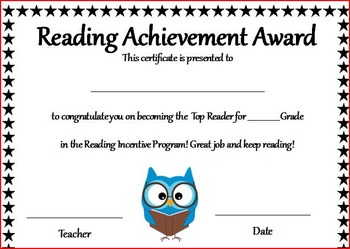 Reading Incentive Program - Whoo's Reading?