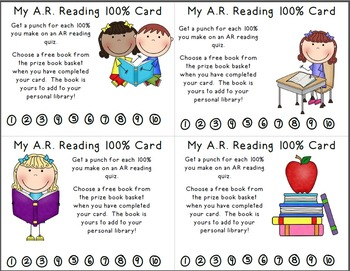 Reading Incentive Punch Cards