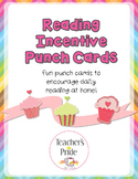 Reading Incentive Punch Cards - Cupcakes