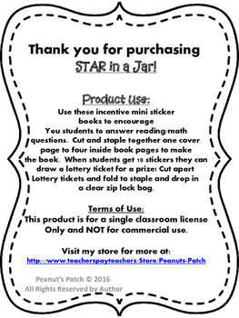 Reading Incentive mini book!