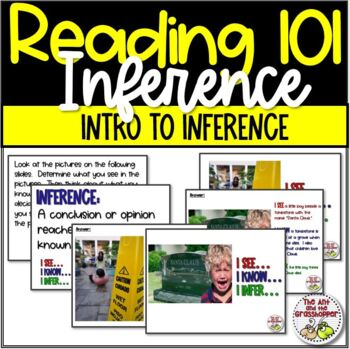 Reading - Inference 101 - Savings Bundle: Slide Show AND Task Cards - Grades 4-8