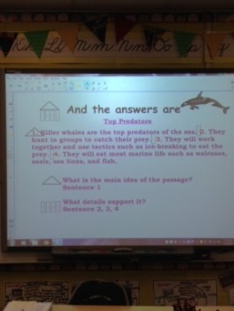 Reading Information 4.2 4th Grade  Smartboard Lesson