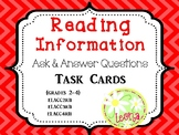Reading Information - Ask and Answer Questions Task Cards {Common Core}