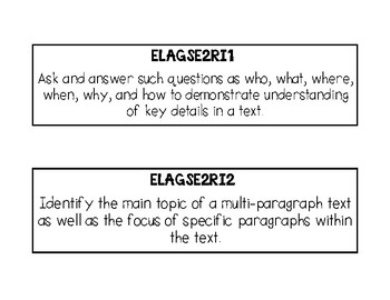Reading Information- Second Grade Georgia Standards of Excellence