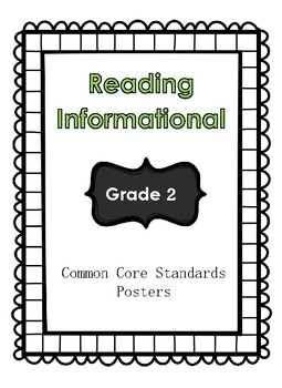 Reading Informational: Common Core Standards Posters