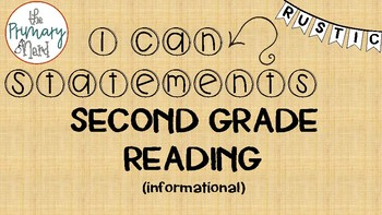 Reading Informational I Can Statements-Rustic