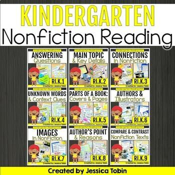 Reading Informational Nonfiction Kindergarten Bundle