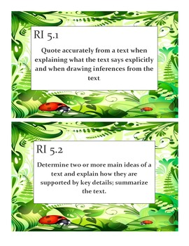Reading Informational Text Standards Posters - Lady Bug