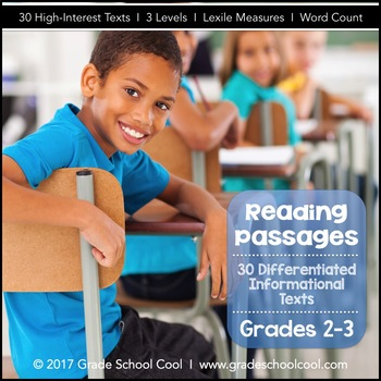 Reading Informational Text: 30 Differentiated Reading Texts - Grades 2-3