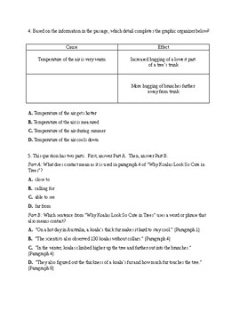 Reading Informational Text Assessment 2