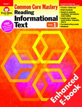 Reading Informational Text, Grade 1 - Teacher's Edition, E-book