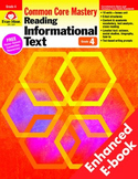 Reading Informational Text, Grade 4 - Teacher's Edition, E-book