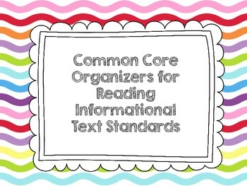 Reading Informational Text Common Core Organizers