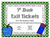 5th GRADE READING INFORMATIONAL TEXT EXIT TICKETS
