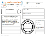Informational Text Graphic Organizer and Summary Writing Frame